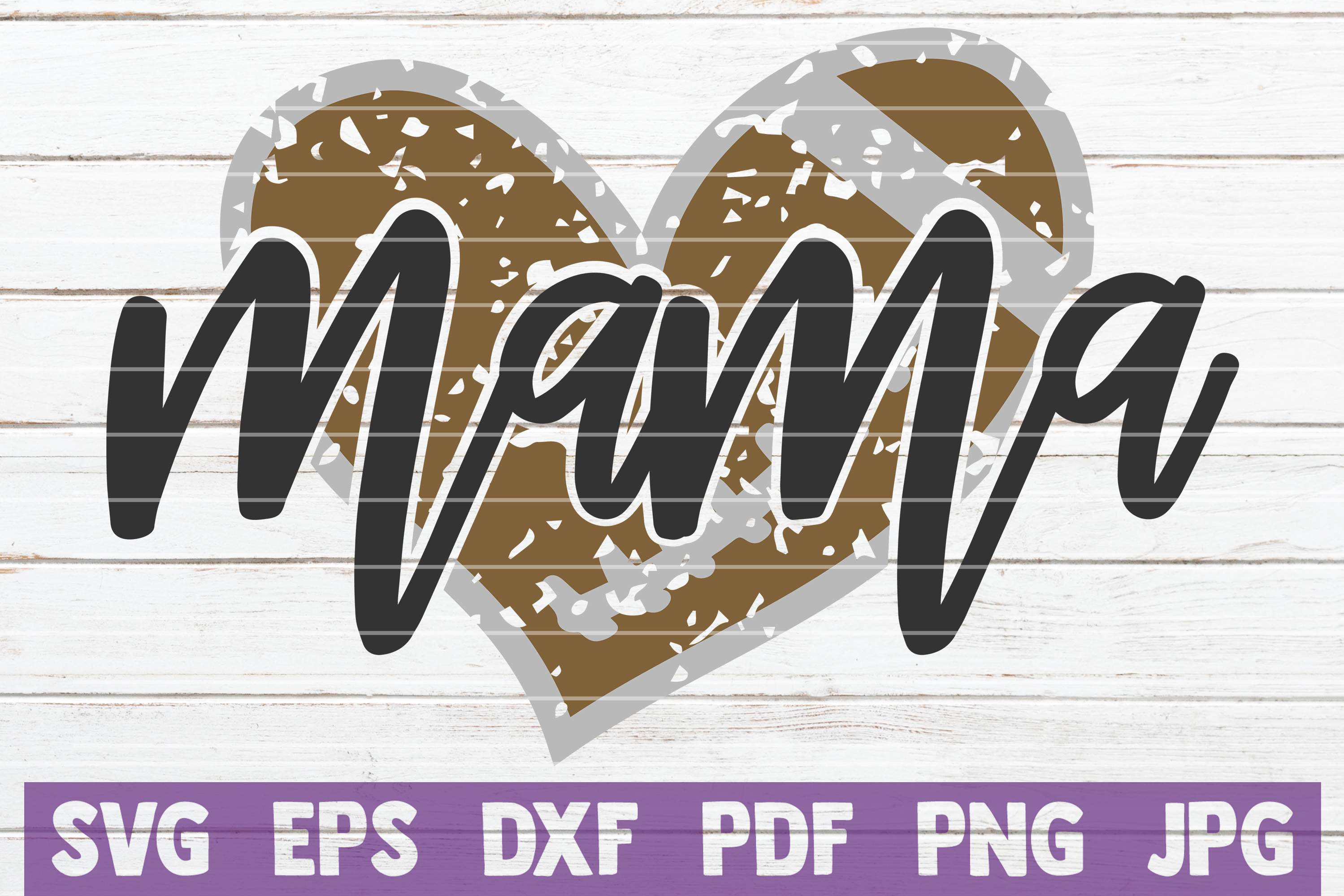 Football Mama SVG Cut File | commercial use example image 1