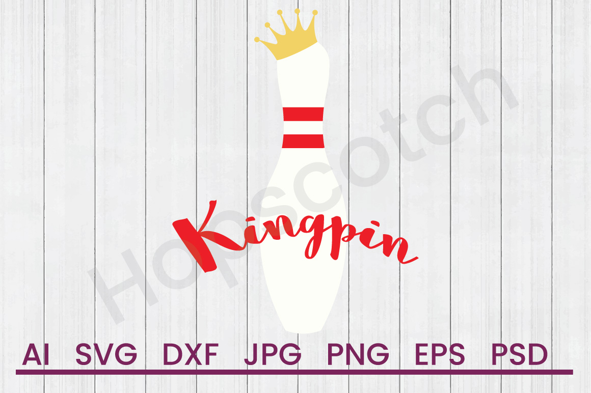 Bowling Pin SVG, Kingpin SVG, DXF File, Cuttatable File example image 1