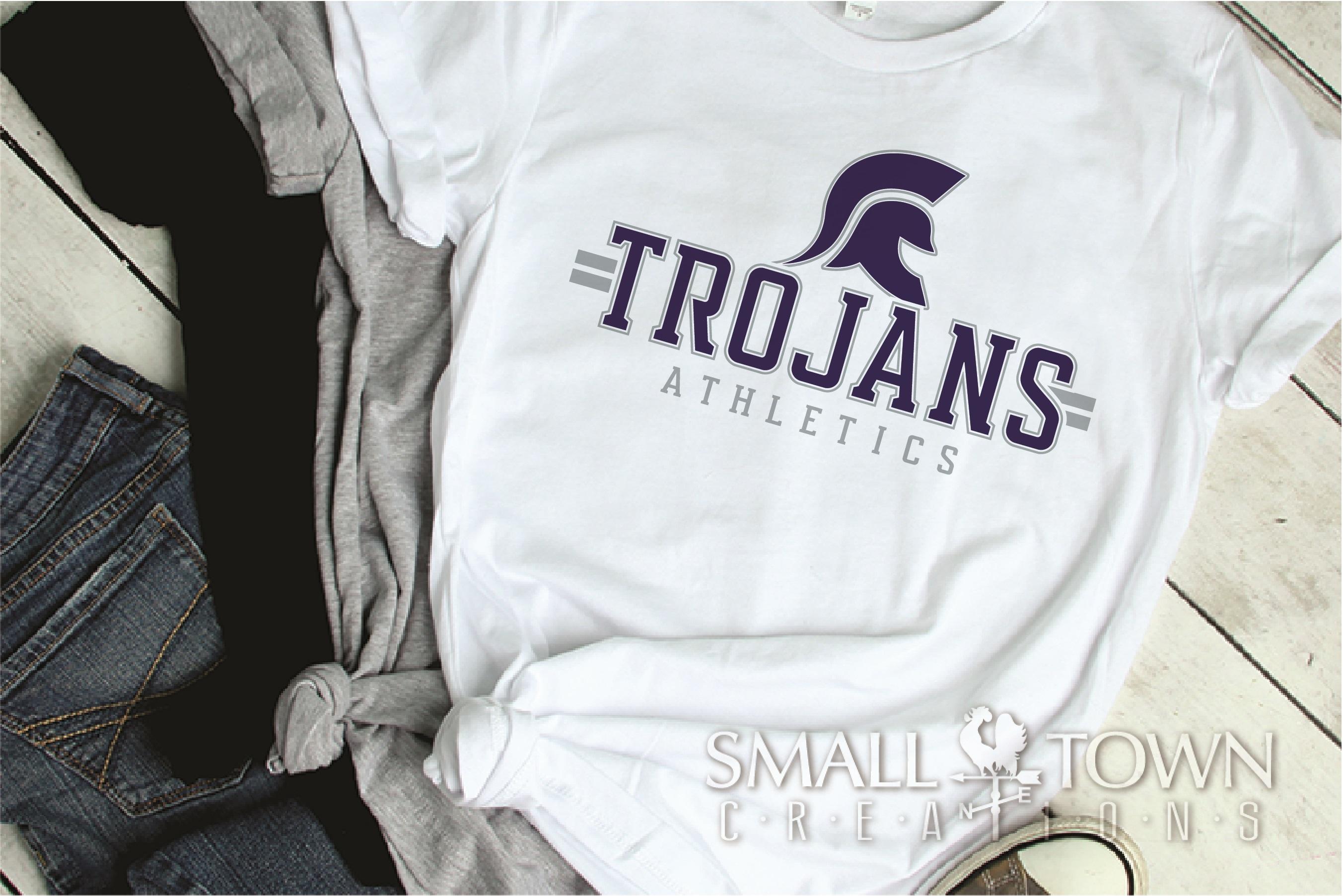 Trojans Athletics, Team, Sorts, logo, PRINT, CUT & DESIGN example image 2
