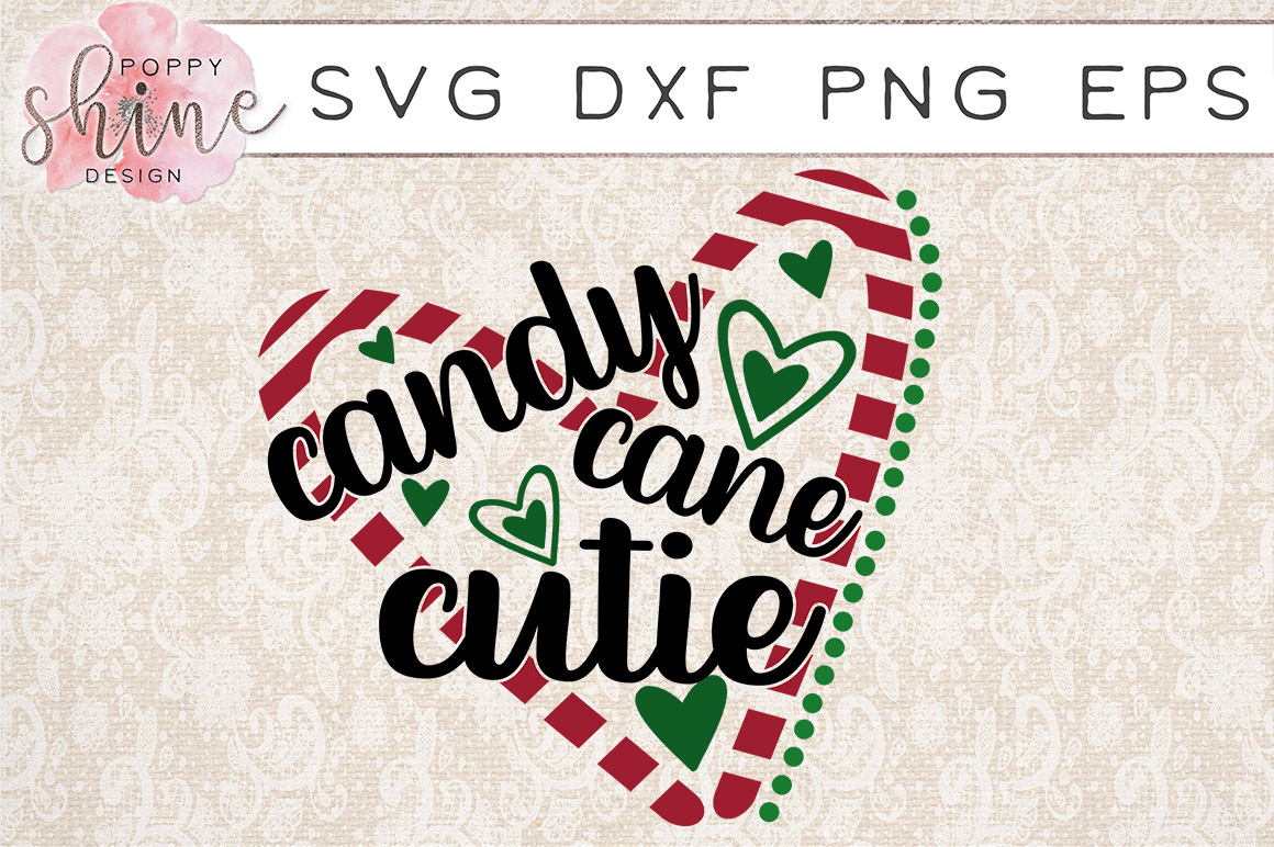 Candy Cane Cutie SVG PNG EPS DXF Cutting Files example image 1