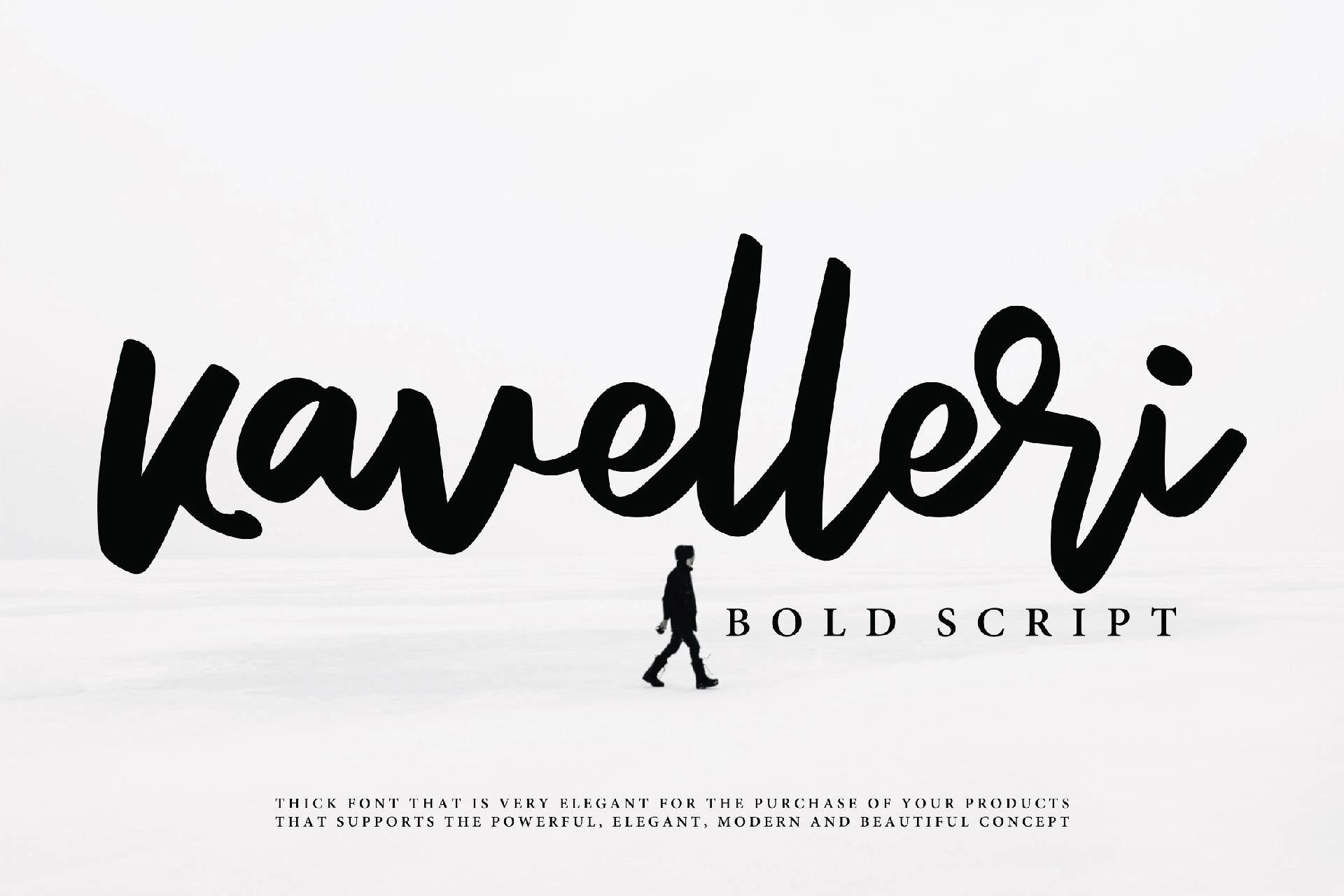 Kavelleri - Brush Font example image 1