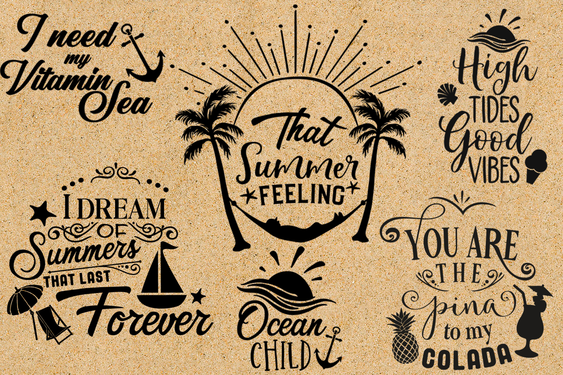 The Summer SVG Cut Files Pack - Limited Promotion! example image 2
