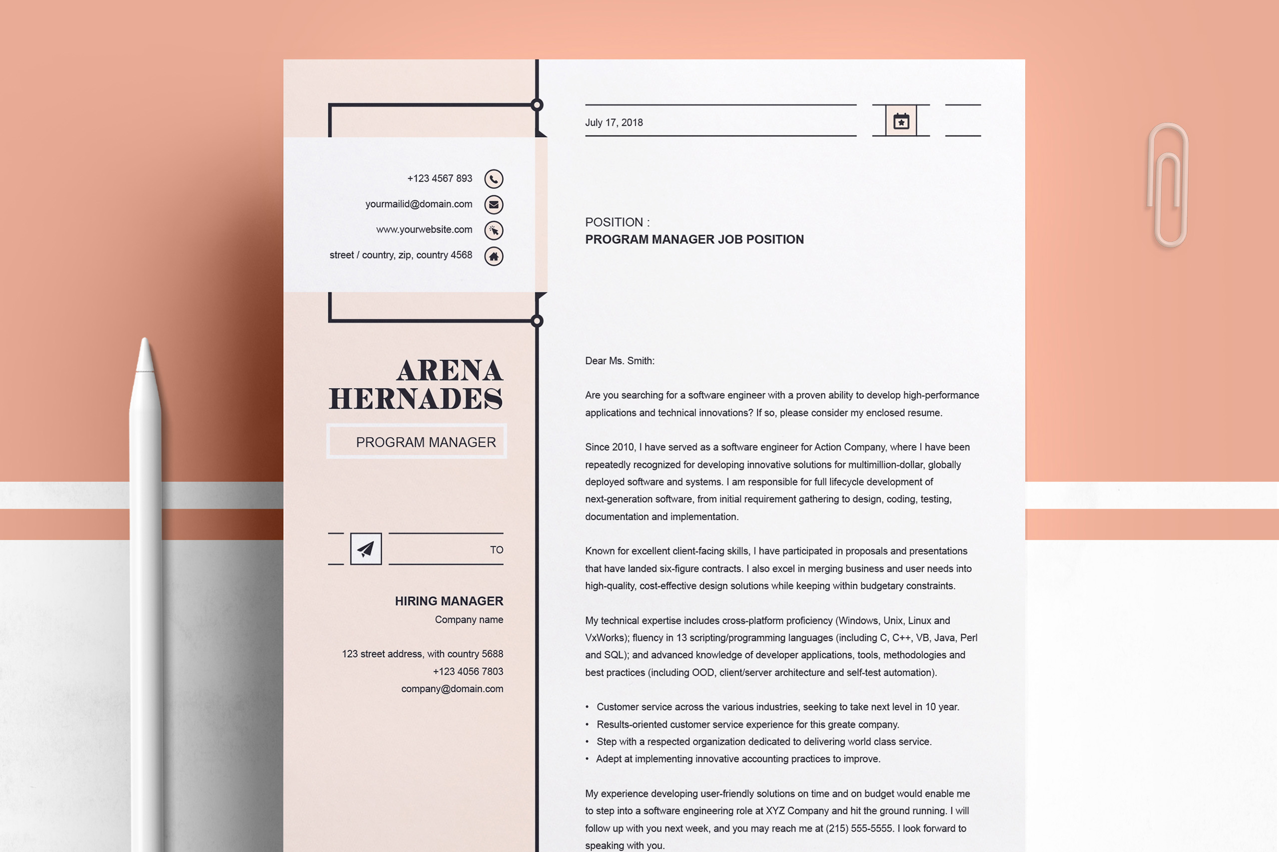 Modern Resume Template example image 3