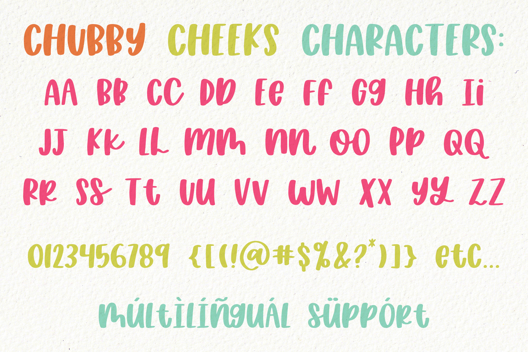 Chubby Cheeks, Thick Handwritten Sans Serif Font example image 9