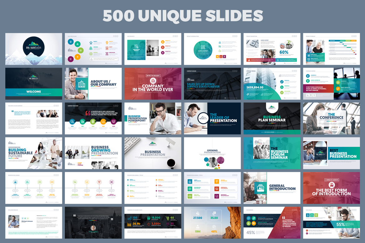 PowerPoint Presentation Template example image 2
