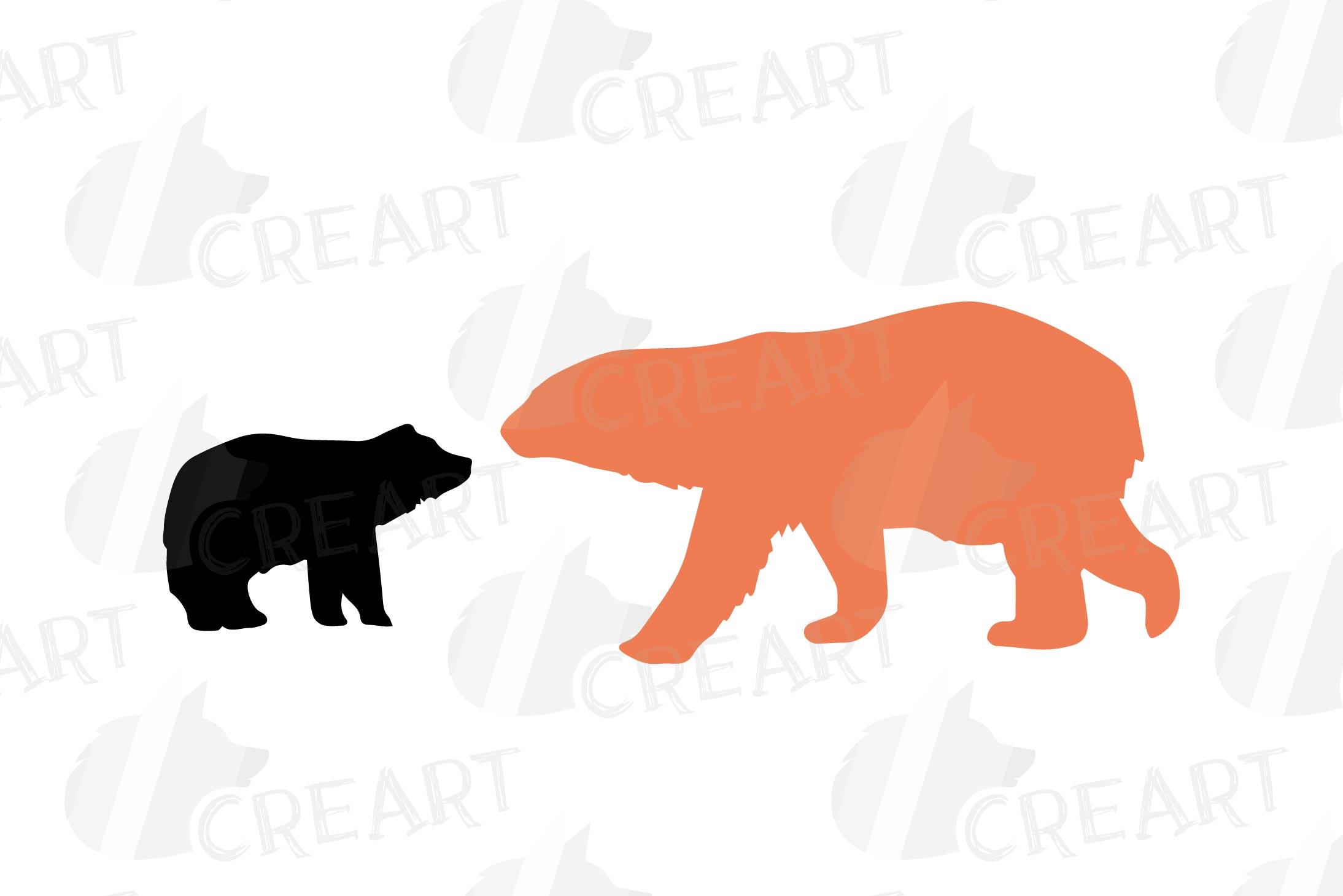 Baby and mama bear nursery clip art collection, bears print example image 11
