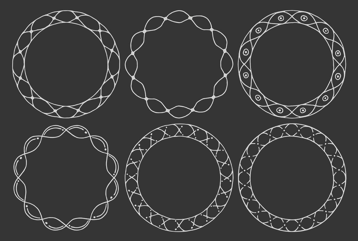 90 Hand Drawn Decorative Round Frames example image 16