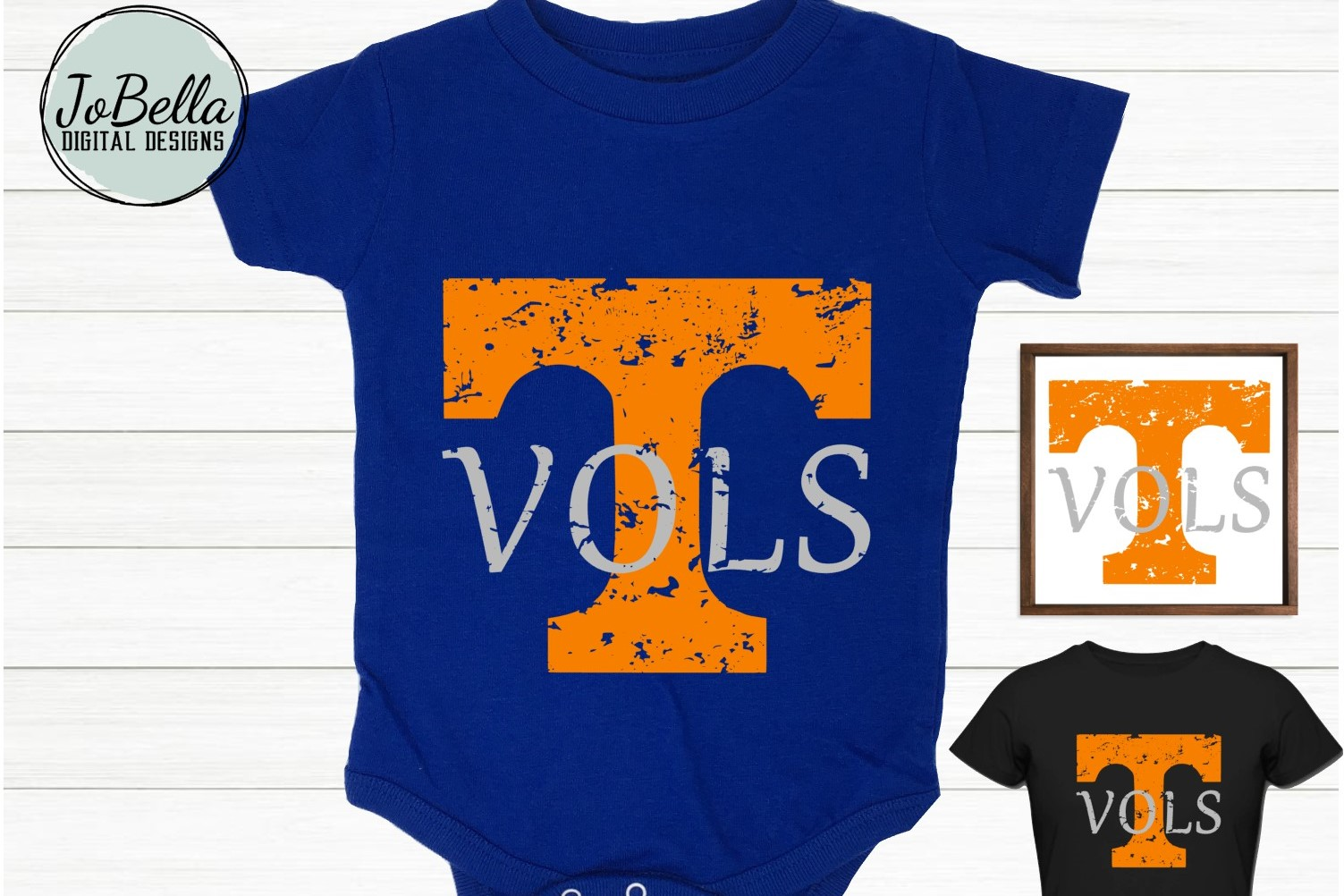 Vols Orange Distressed Tennessee T SVG and Printable example image 3
