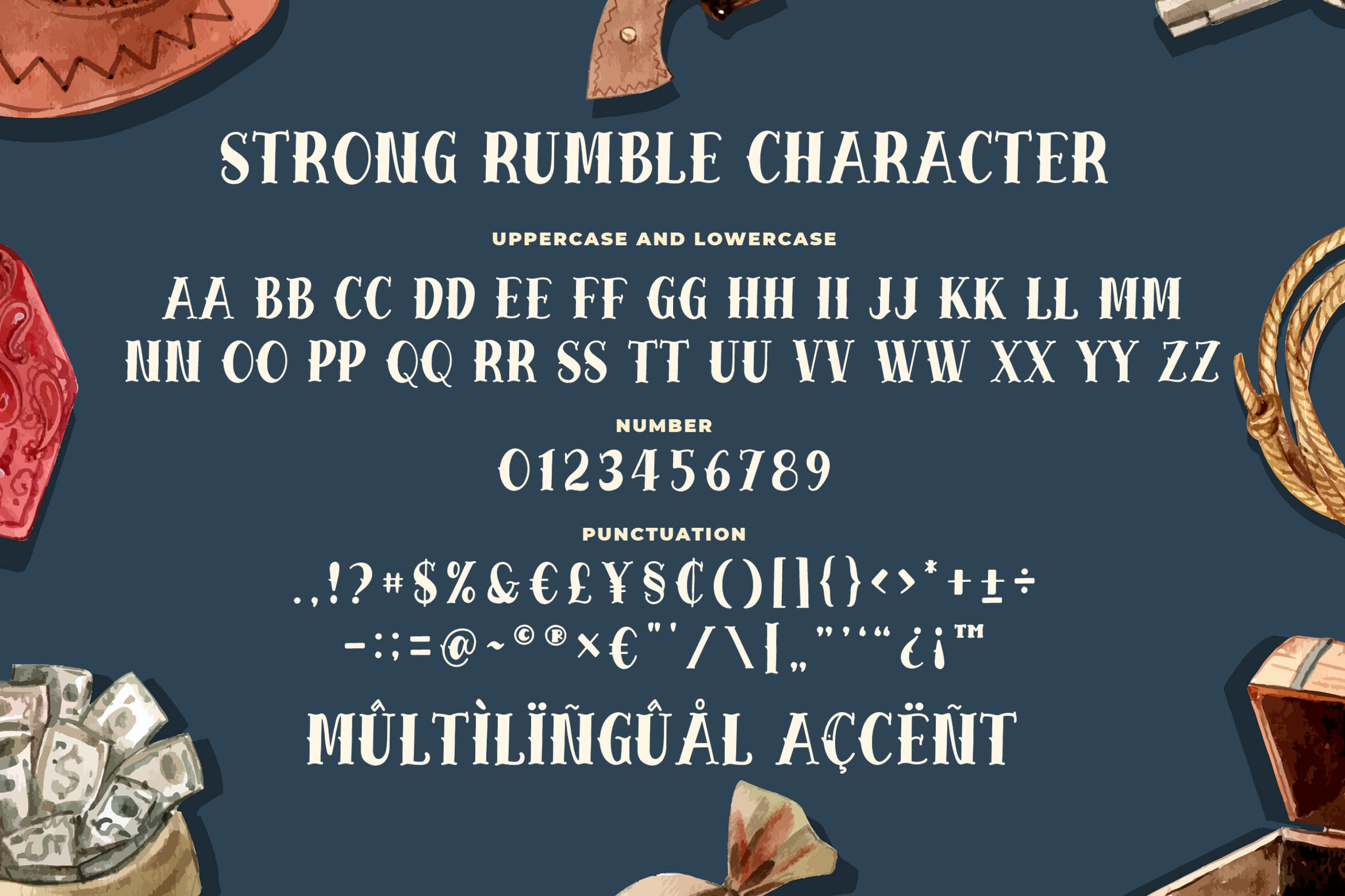 Strong Rumble - Vintage Serif Font example image 5
