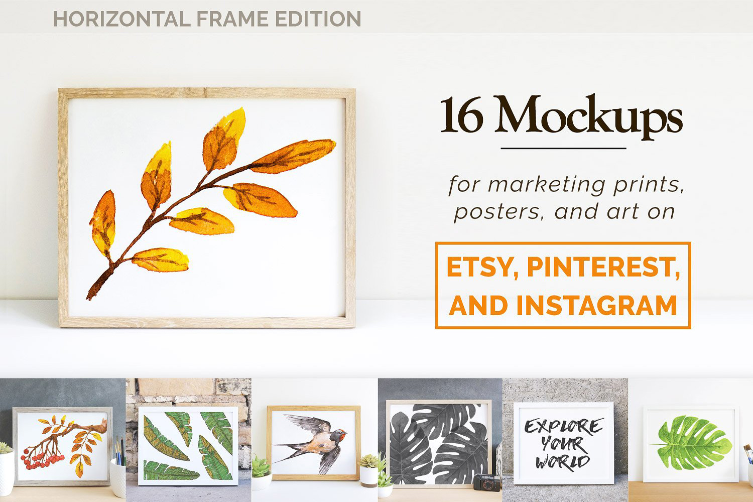 Print and Poster Mockups for Etsy and More! example image 1