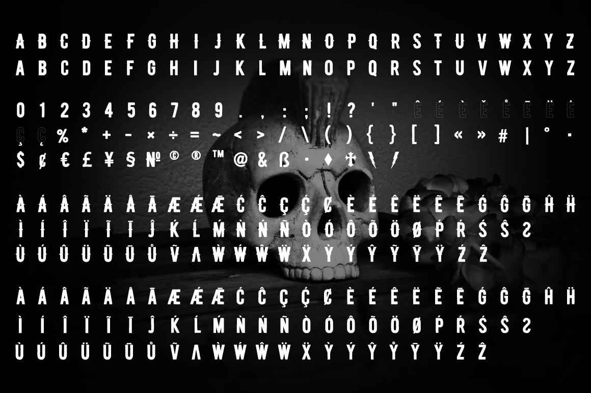 Biker Diamond Typeface example image 5