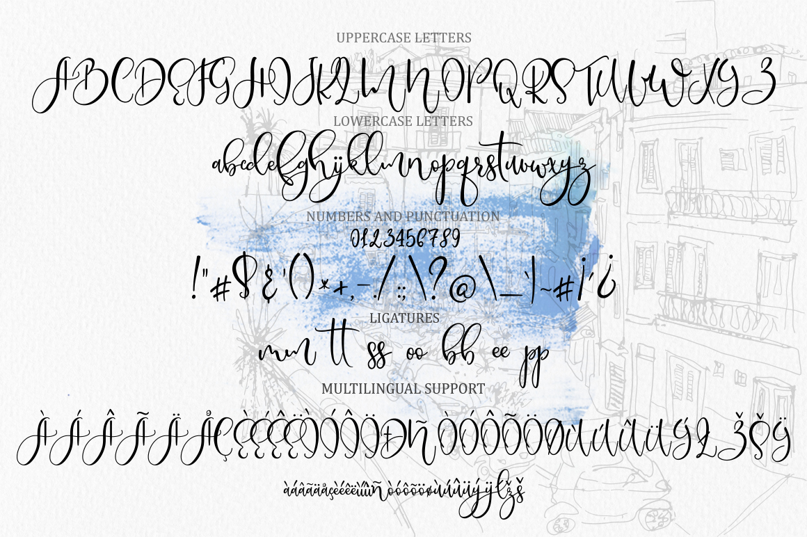 Borgoforte script font example image 10