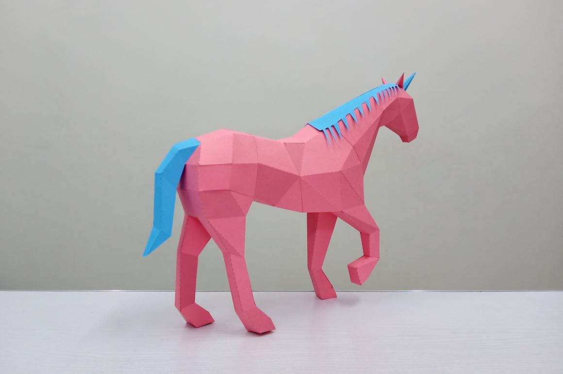DIY Unicorn Sculpture - 3d papercraft example image 6