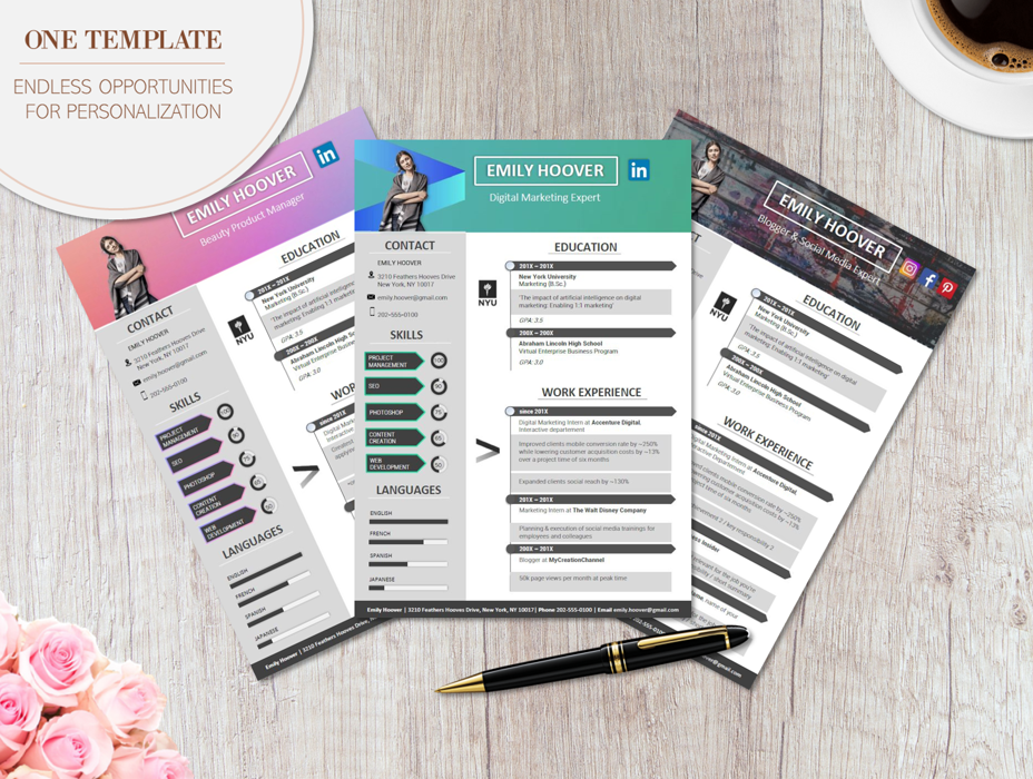 modern resume template - creative