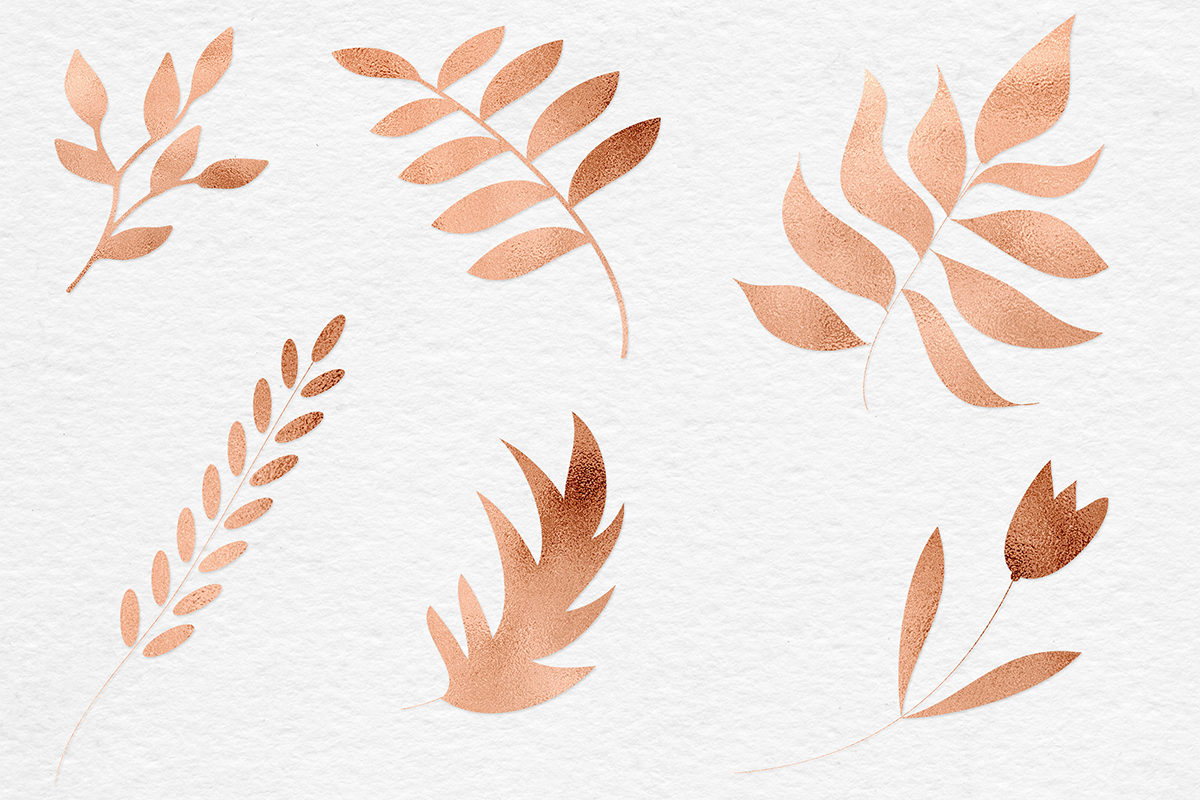 Hand Painted Copper Plants example image 4
