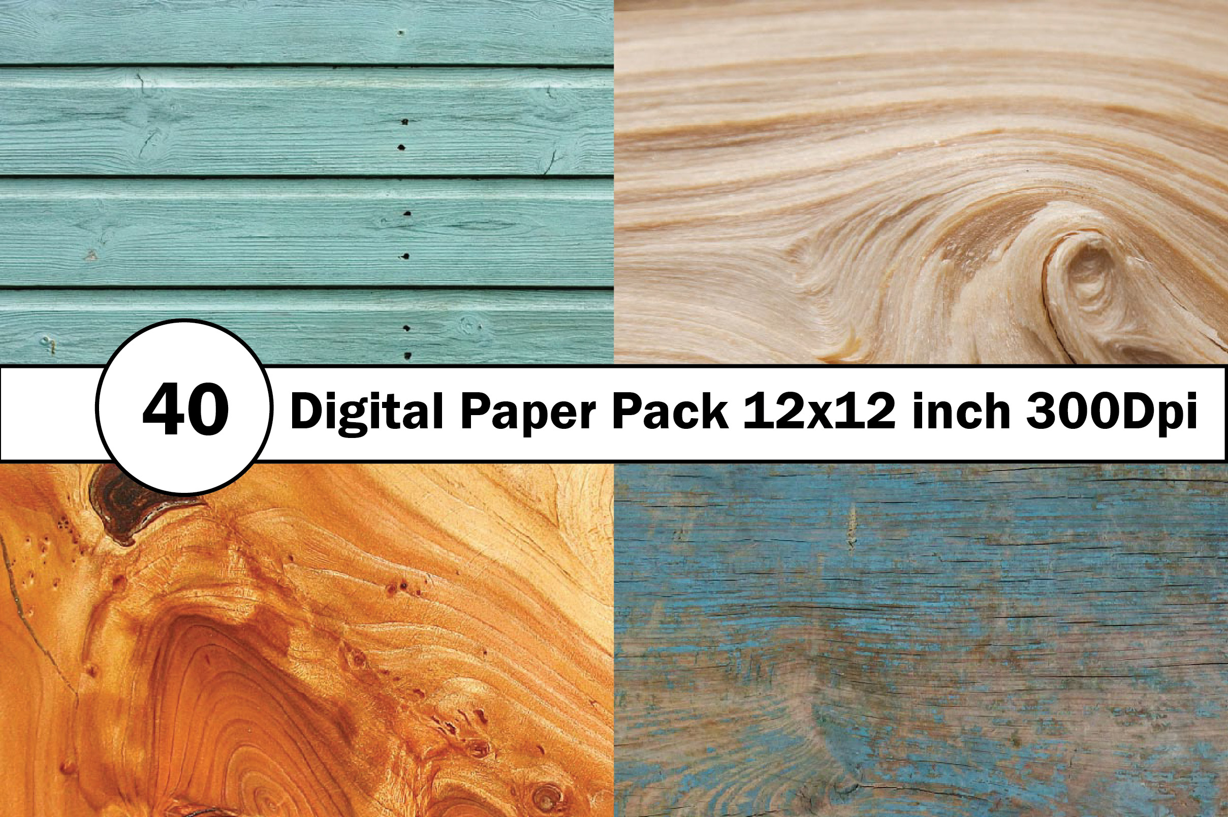 40 Digital Paper Pack 12x12 inch 300 Dpi example image 7