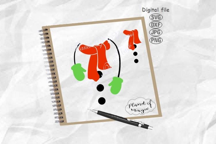Snowman Svg, Christmas Svg, Scarf Svg, Snowman T shirt Svg example image 1