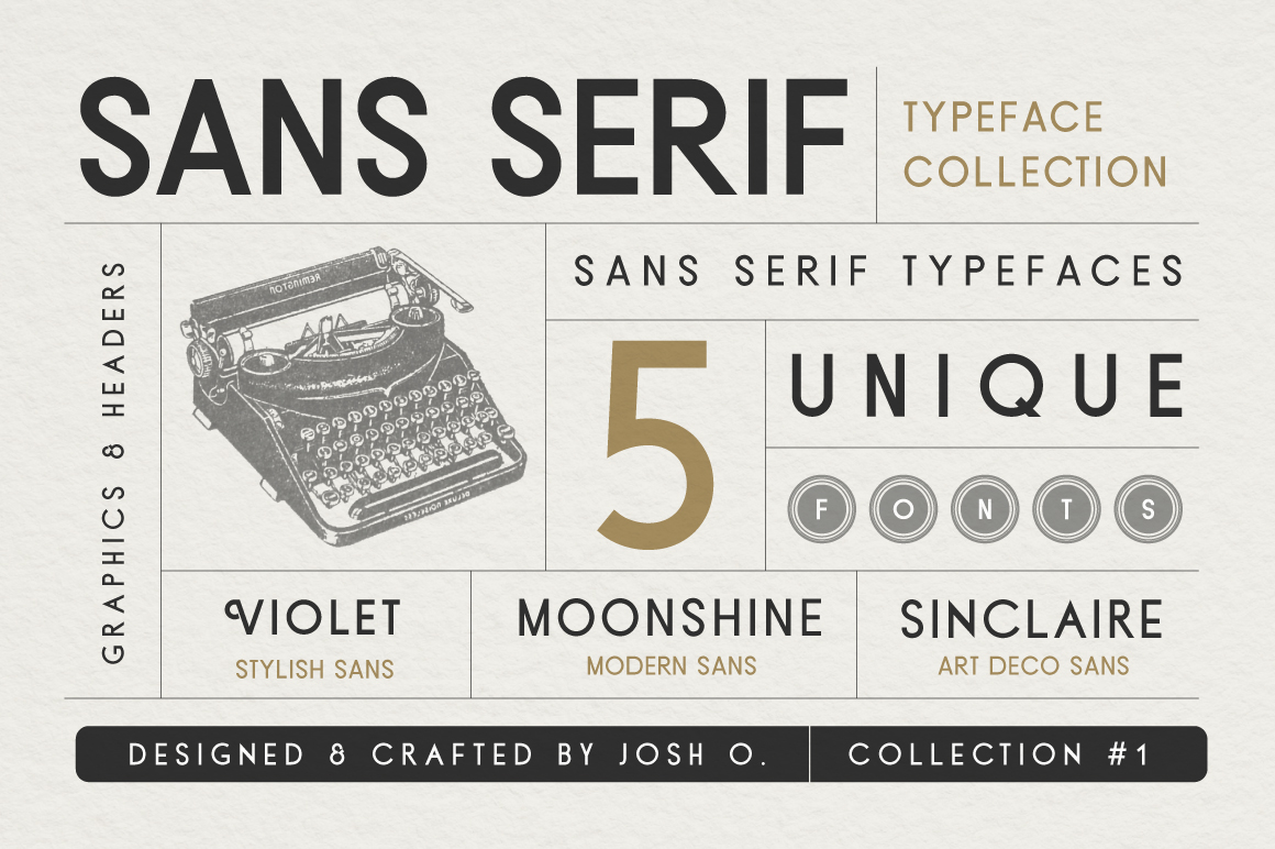 Sans Serif Typeface Collection example image 1