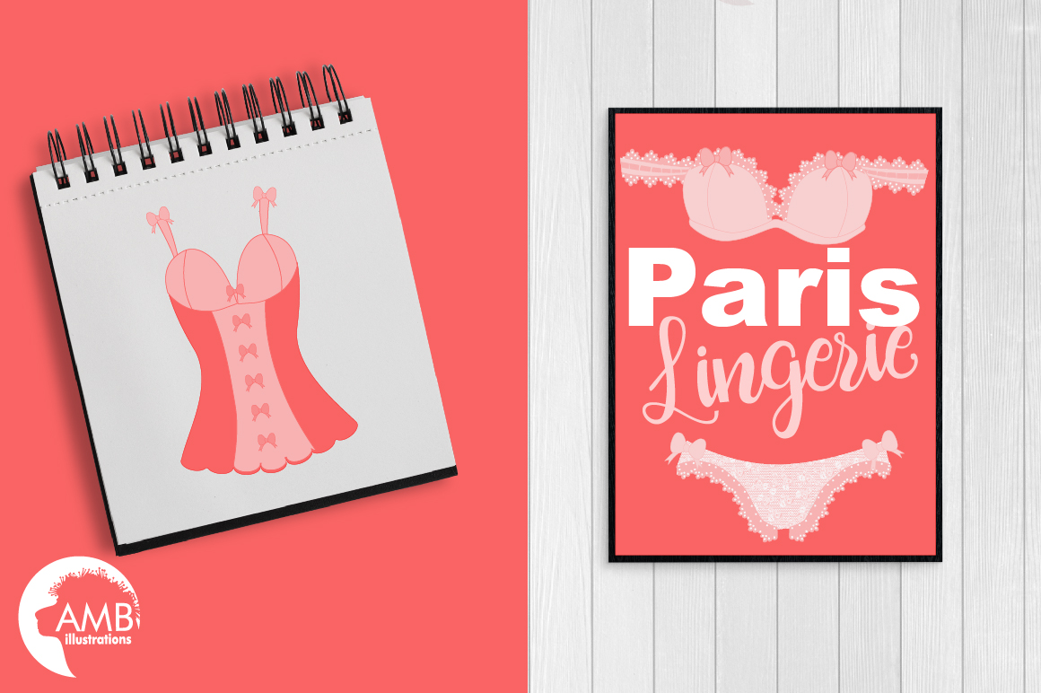 Bachelorette Party, Lingerie Clipart-AMB-2209 example image 5