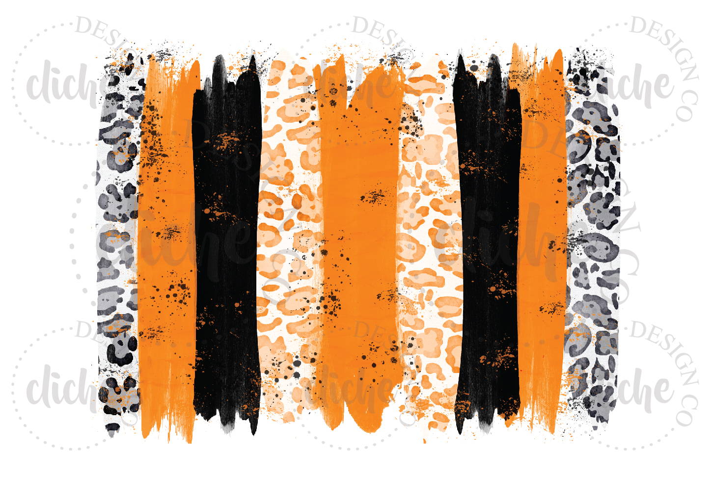 Paint Stroke Sublimation Design Background Bundle example image 6