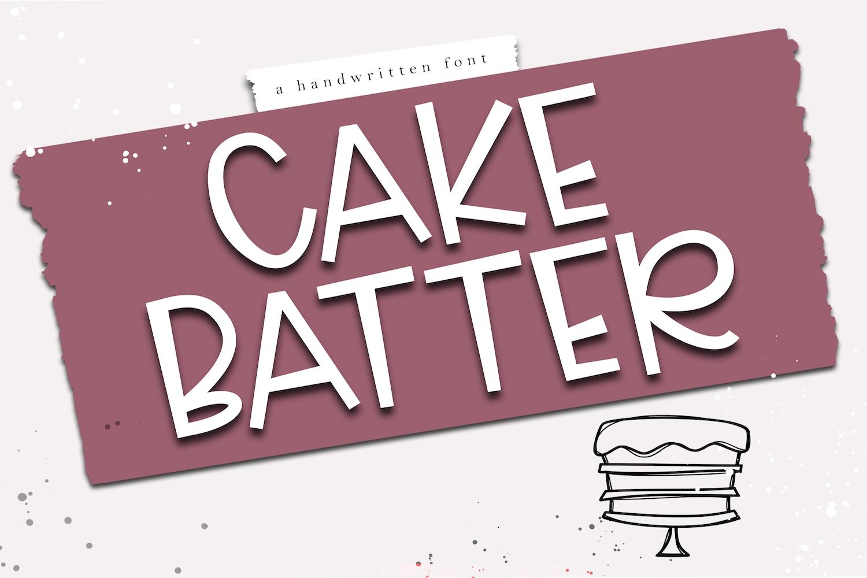 Cake Batter - A Handwritten Font example image 1
