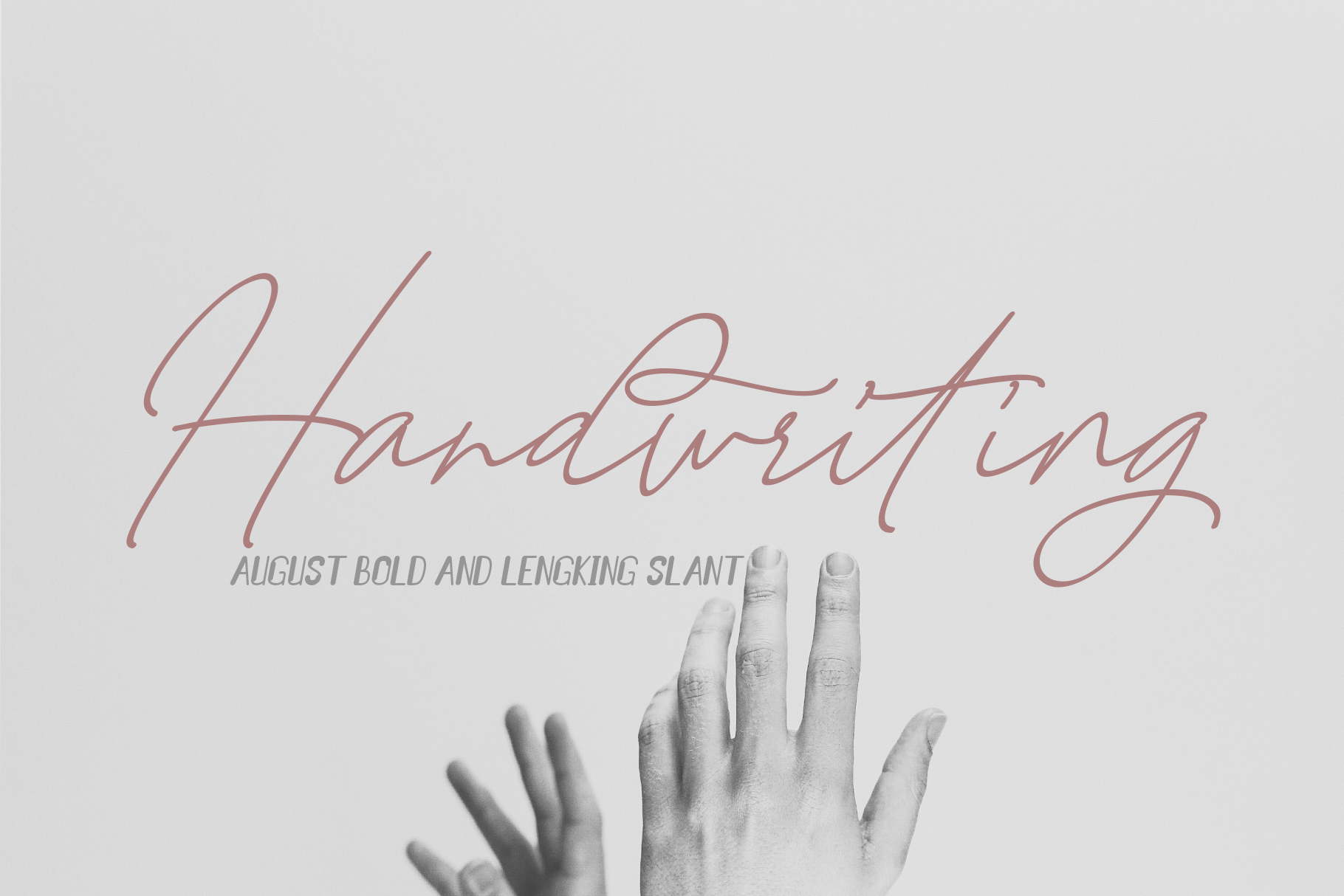 August Bold&LENGKING SLANT Font duo example image 2