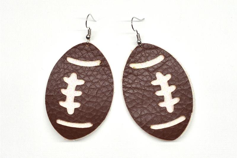 Football earrings template SVG, DIY earrings template example image 3