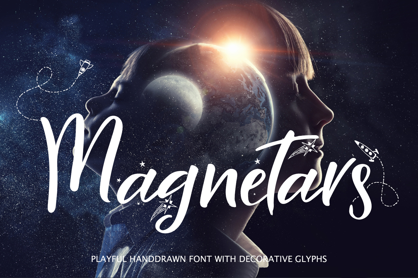 Magnetars - space font example image 1