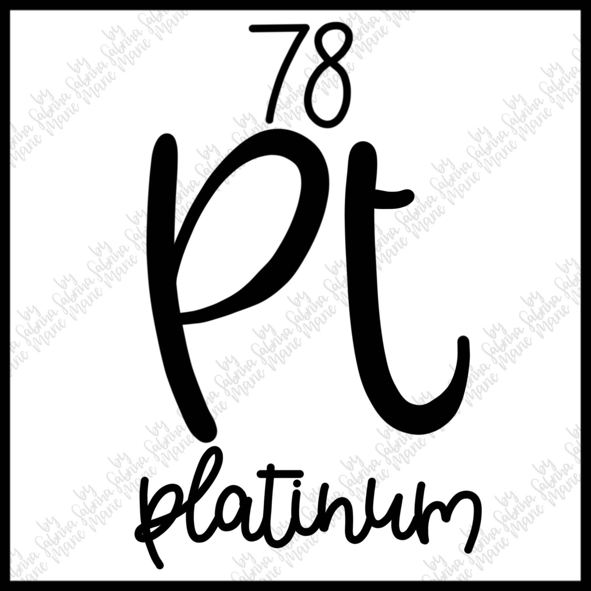 78 Platinum Handdrawn Periodic Table Element Svgpng