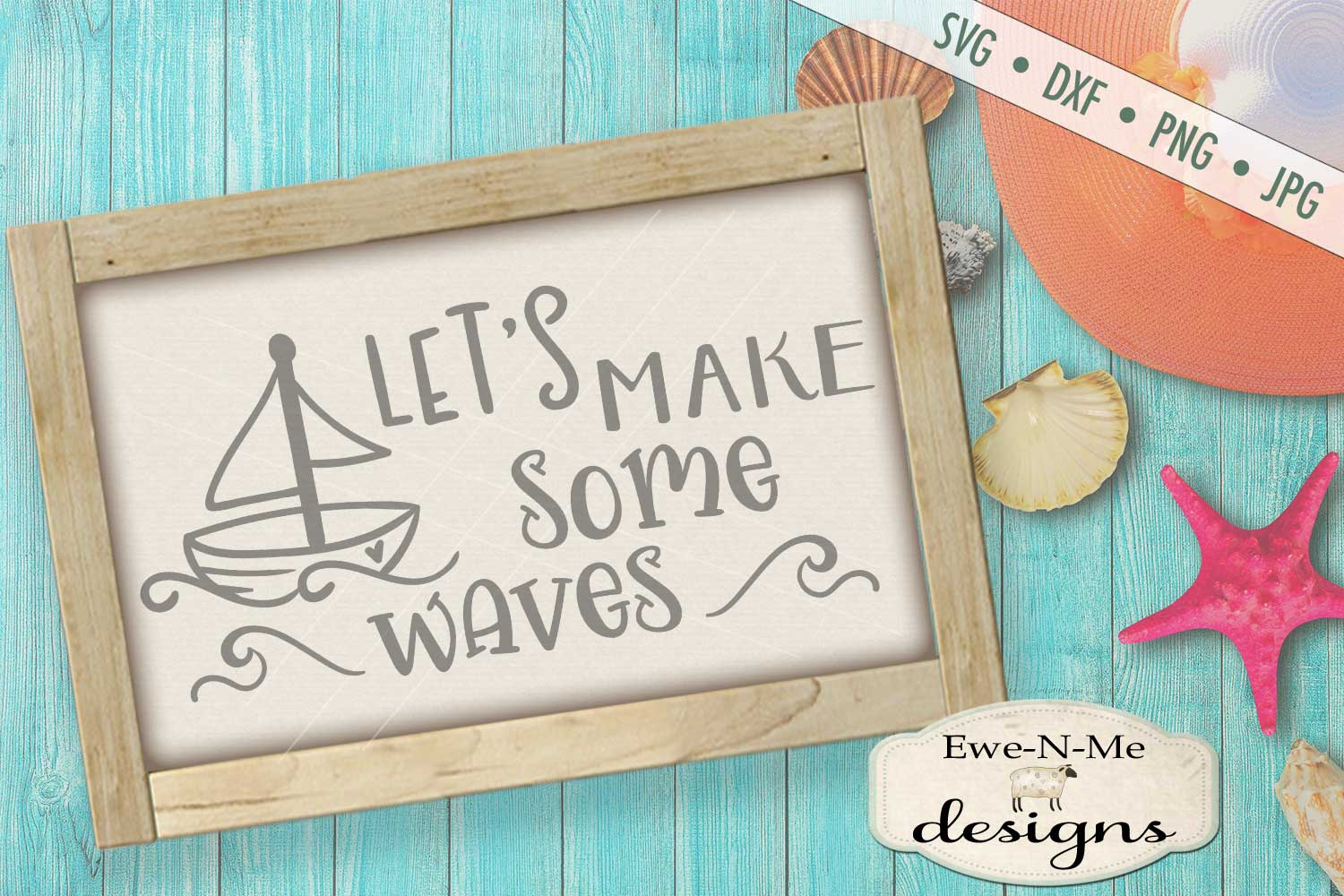Let's Make Some Waves Nautical SVG DXF Files example image 1