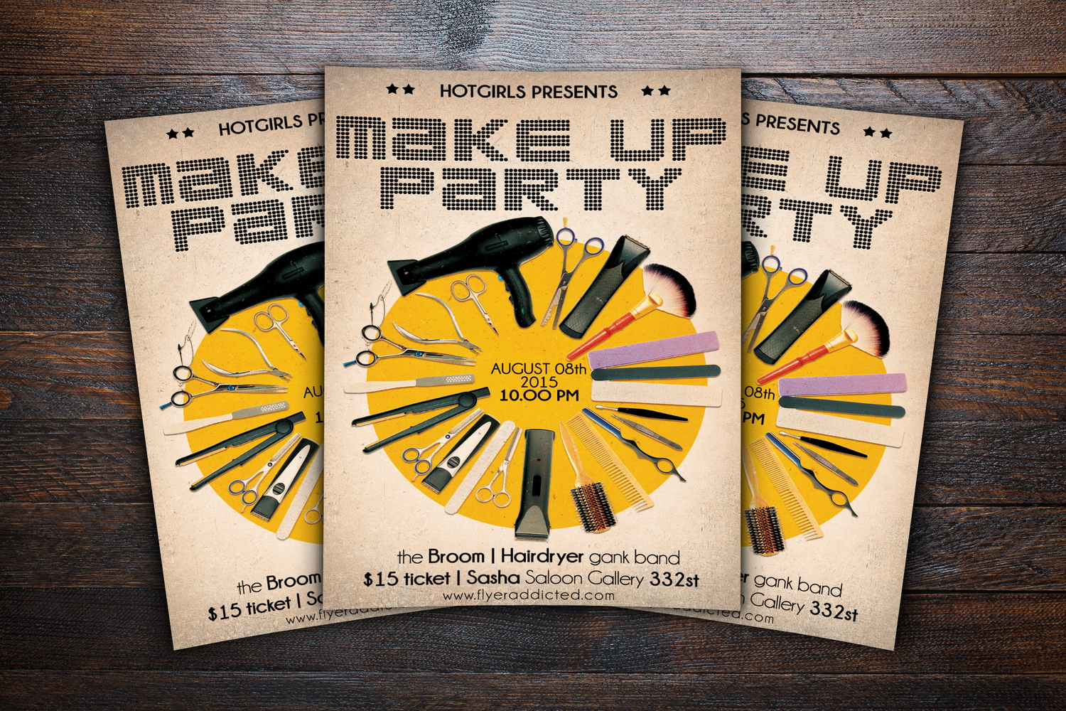 Make Up Party Flyer example image 3