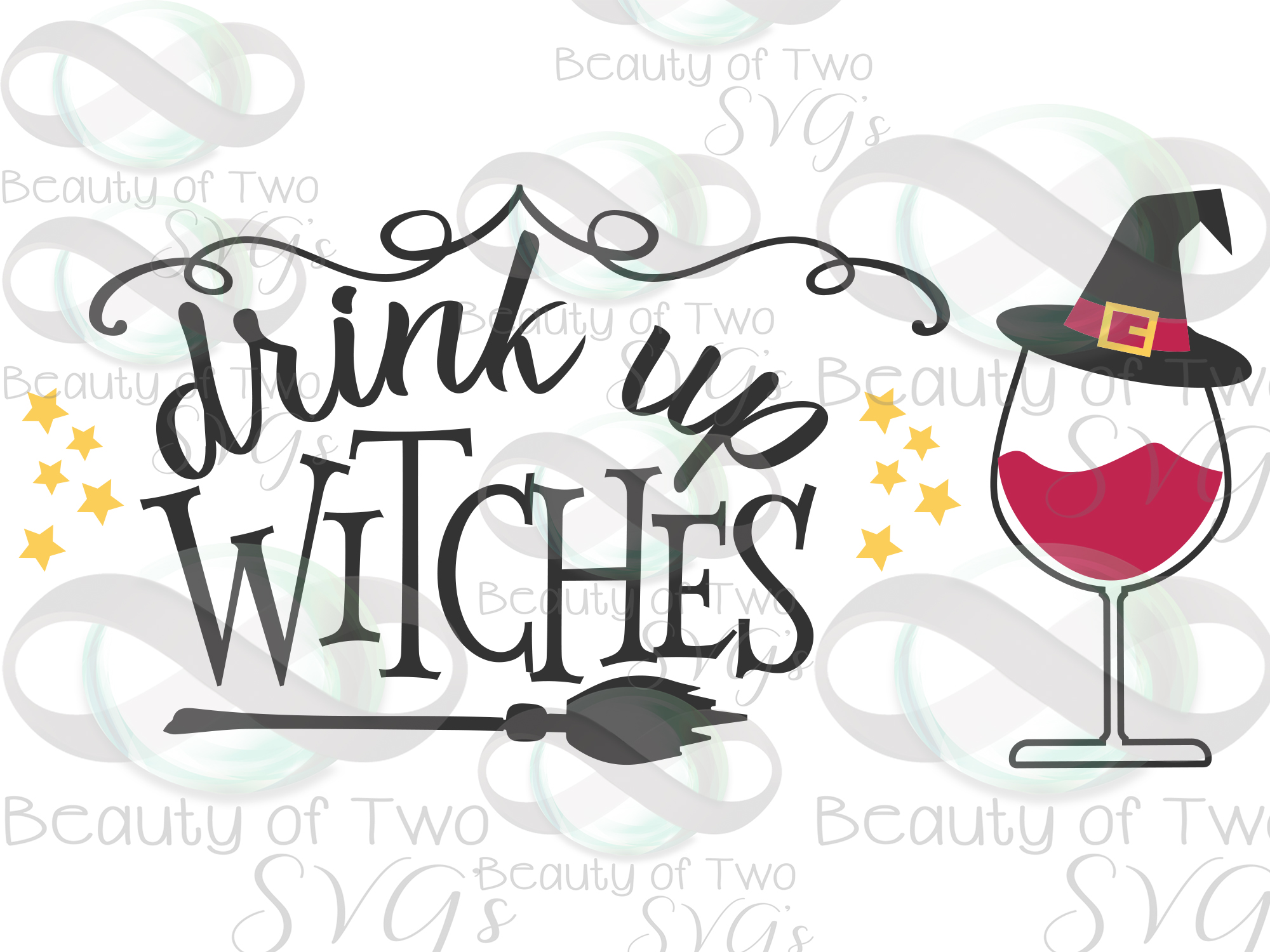 Halloween svg sign design, Drink up witches svg, wine svg example image 4