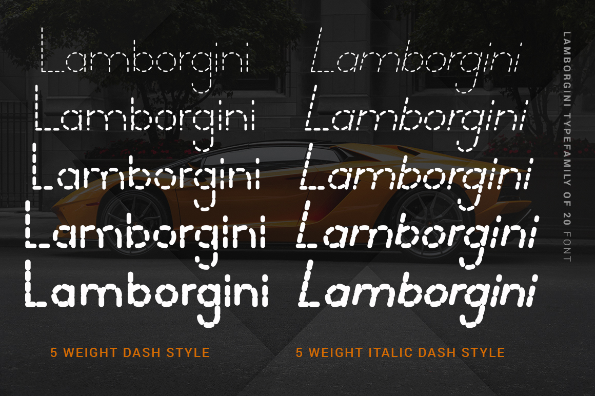 Lamborgini - 20 Fonts Included example image 3