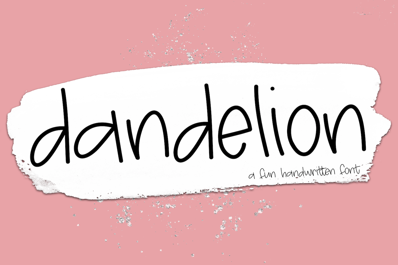 Dandelion - A Fun Handwritten Font example image 1
