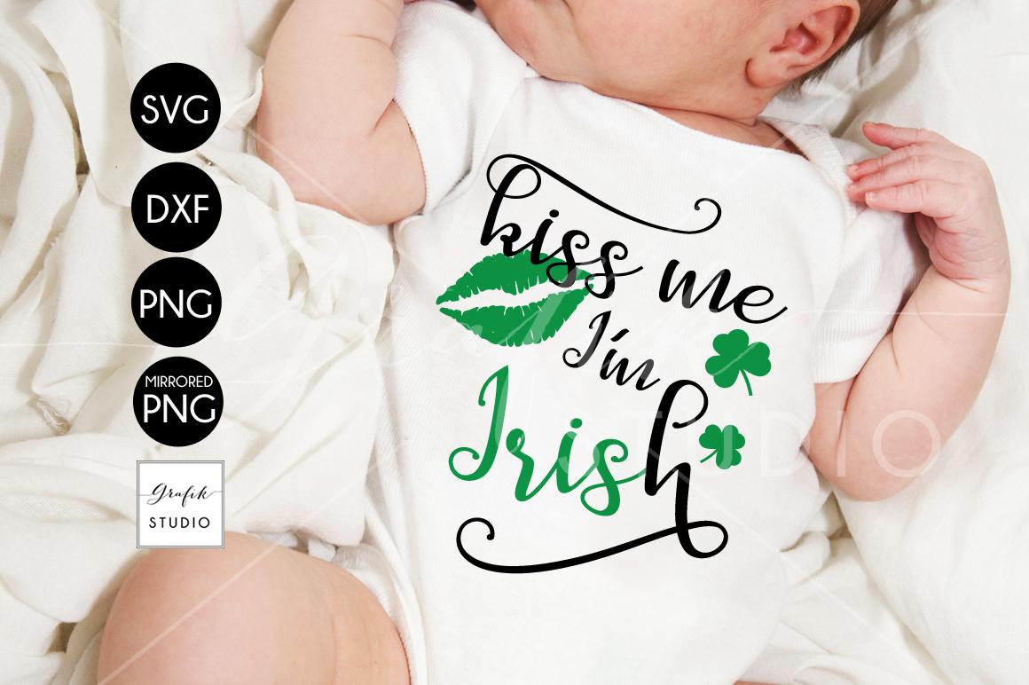 Kiss me Im Irish St Patricks Day SVG example image 1