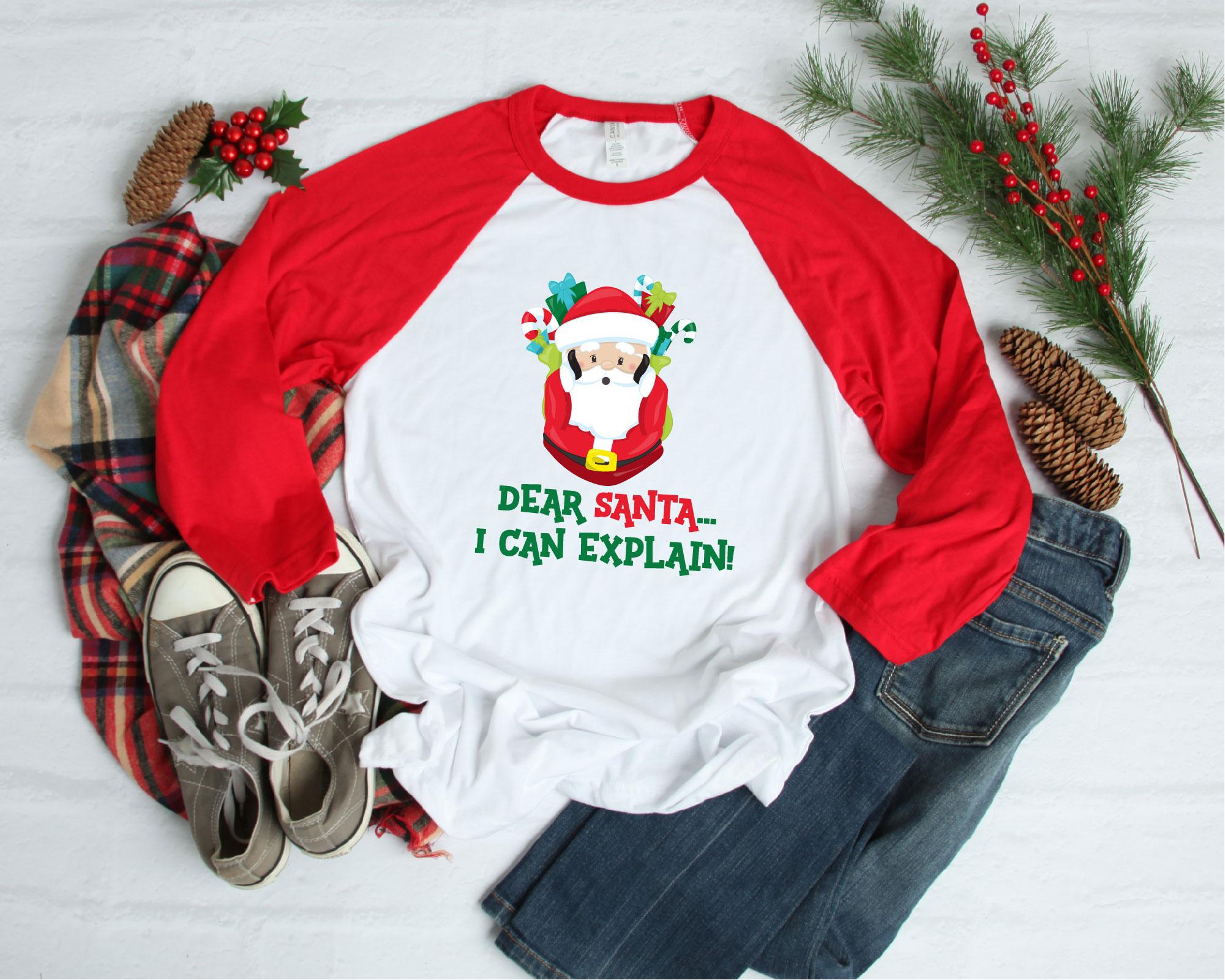Naughty List, Dear Santa I Can Explain SVG, Christmas example image 2
