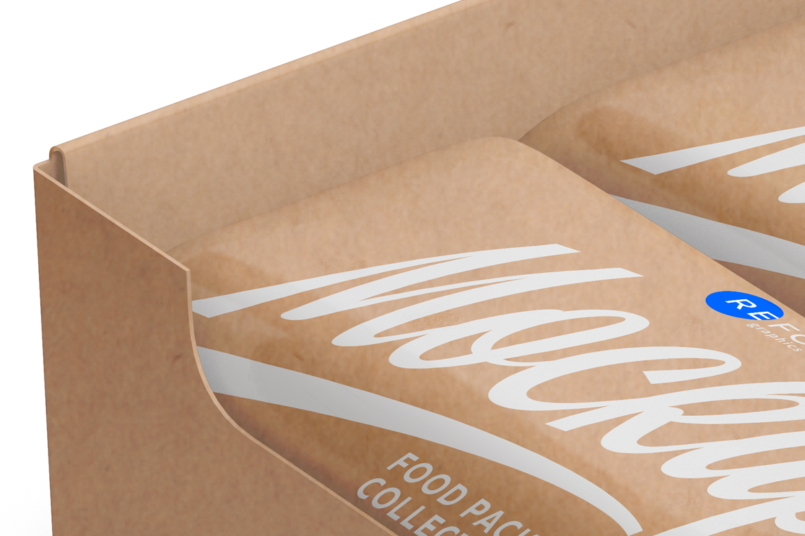 Kraft Bars and Box of 10x40g Mockup example image 6