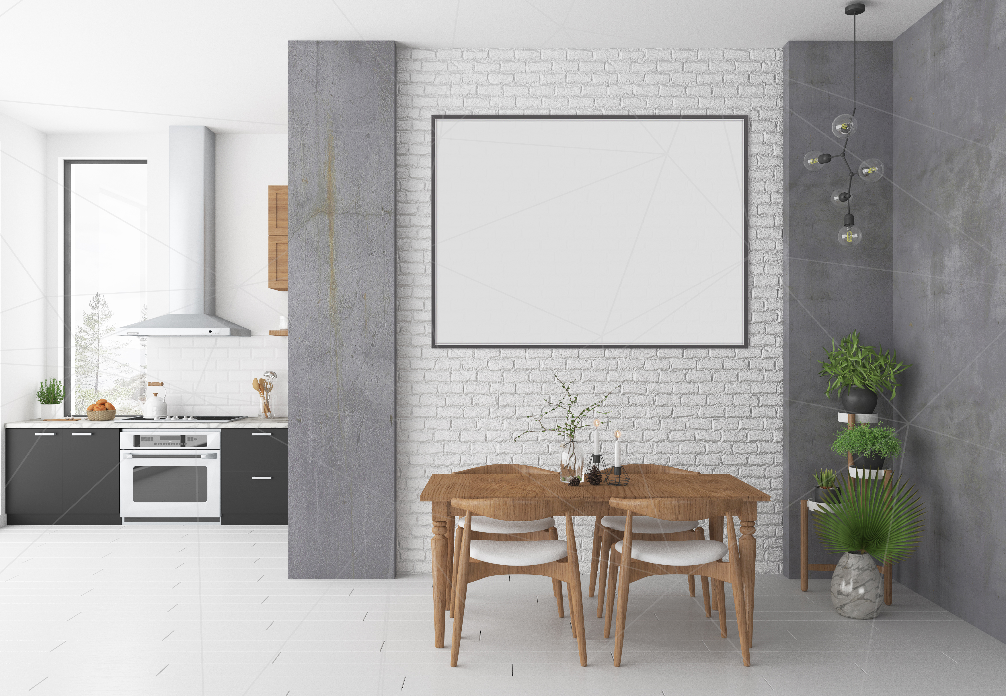 Interior mockup bundle - blank wall mock up example image 4
