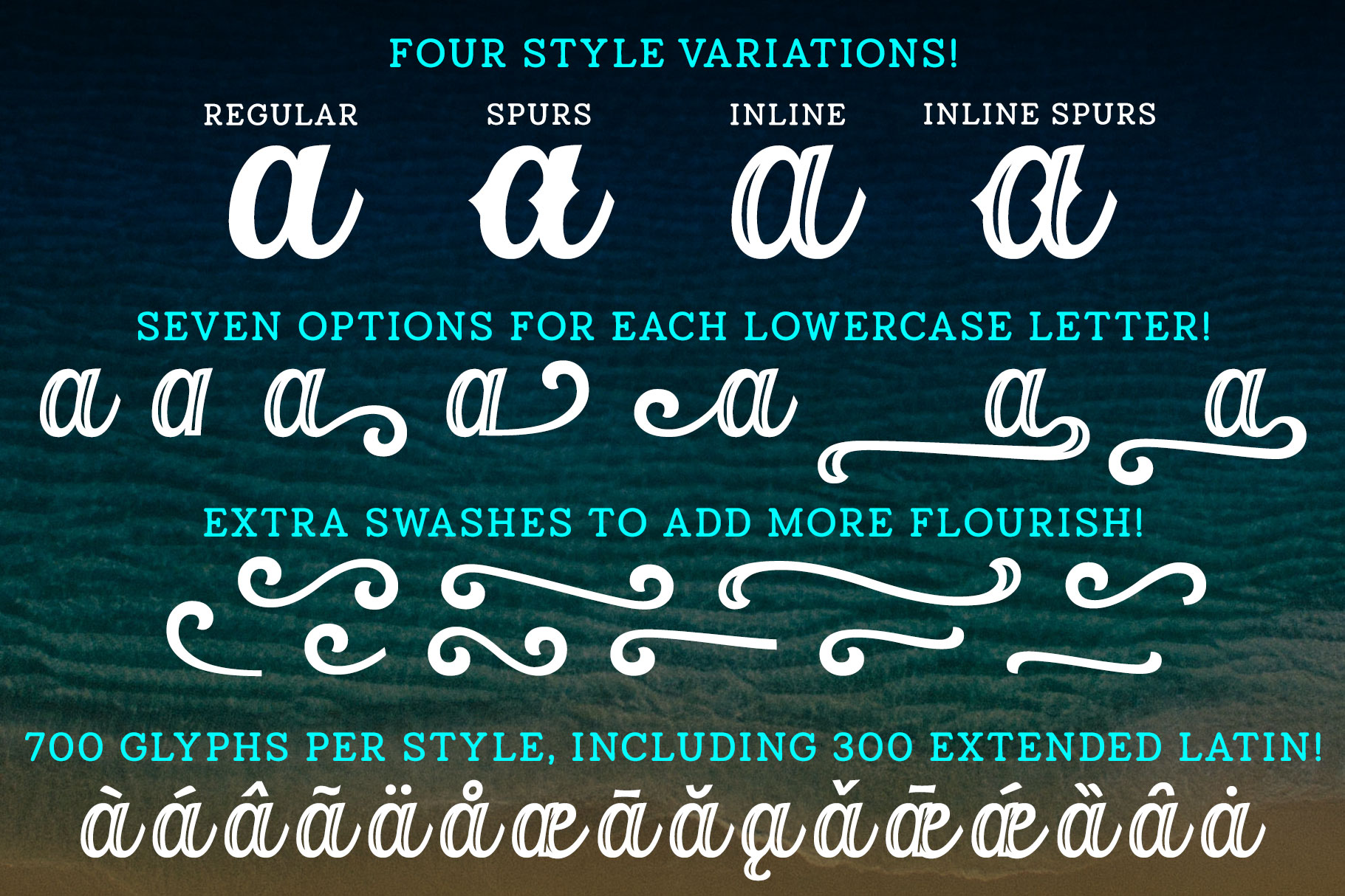 Orchid Key - a four-font family with alternates galore! example image 2