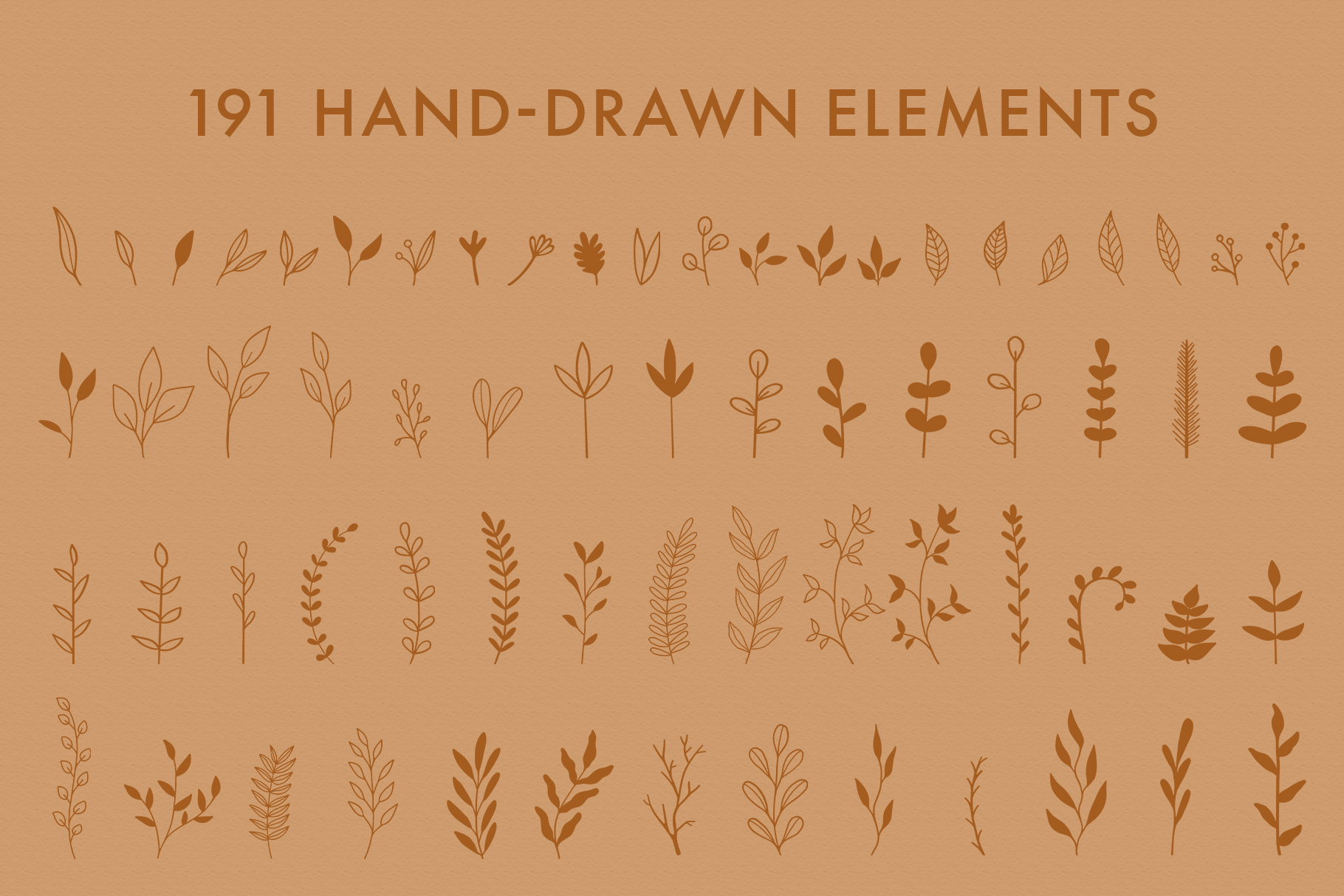 Floral Vector Elements Volume 002 example image 6