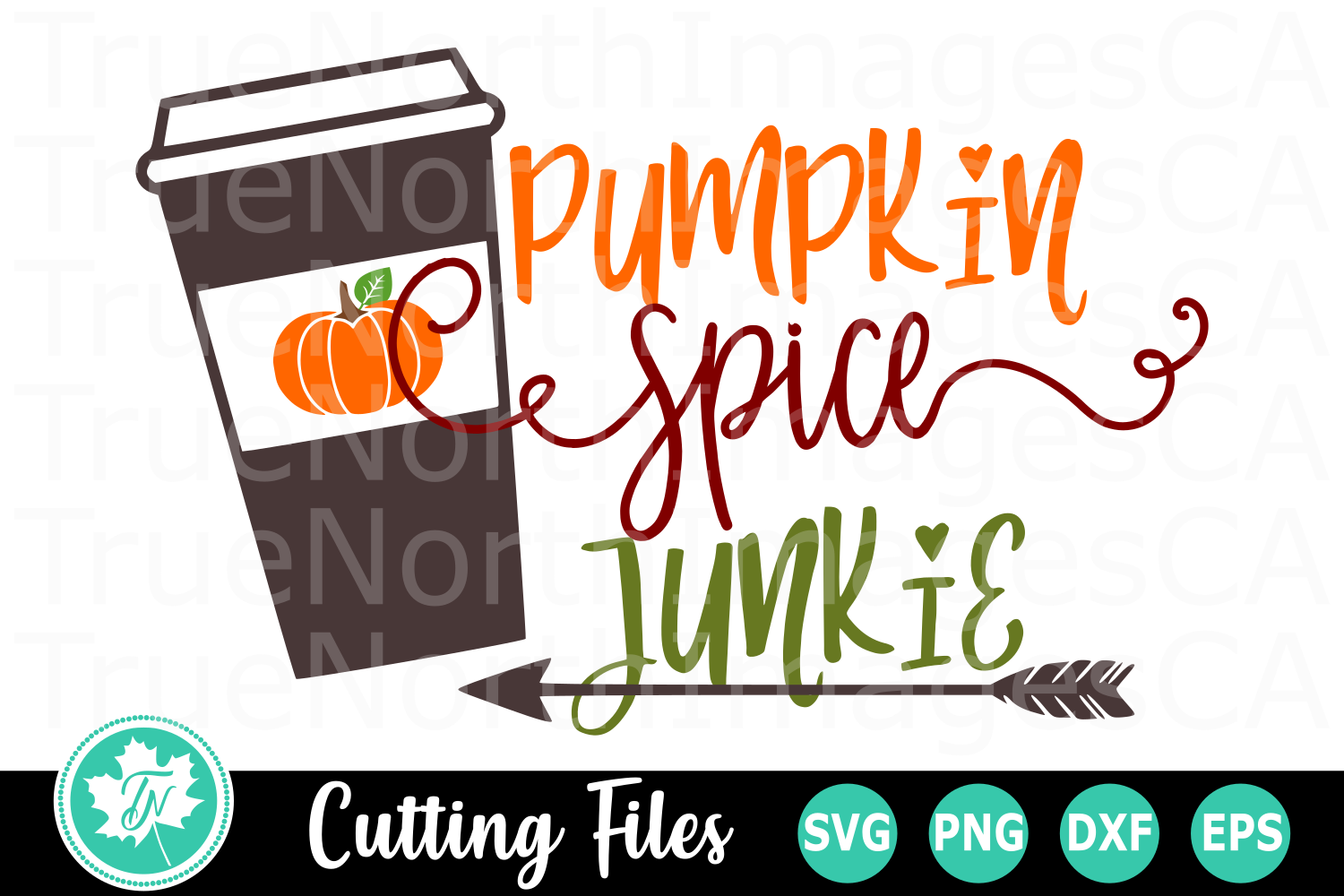 Pumpkin Spice Junkie - A Fall SVG Cut File example image 1