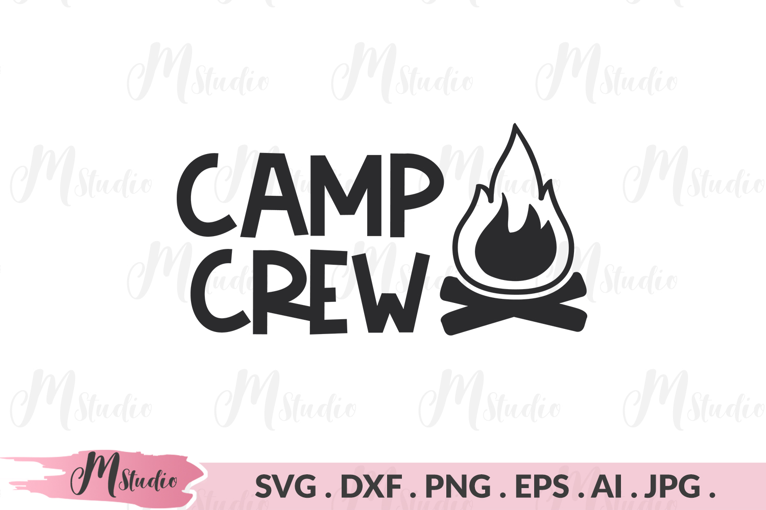 Camp crew svg. example image 1
