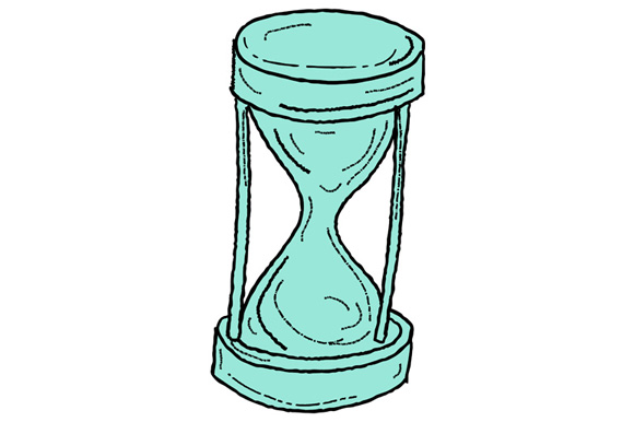 Vintage Hour Glass Drawing example image 1