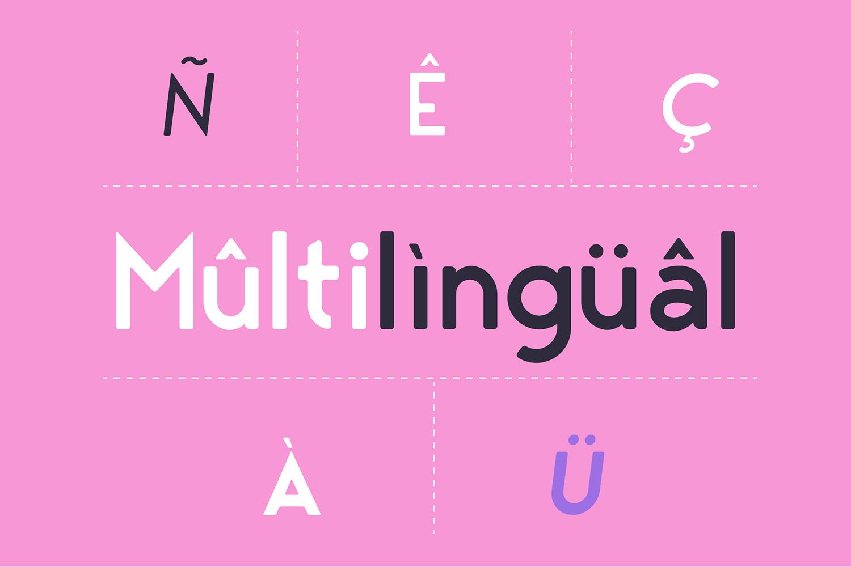 George Round 8 Fonts Round Edge Geometric Typeface example image 3