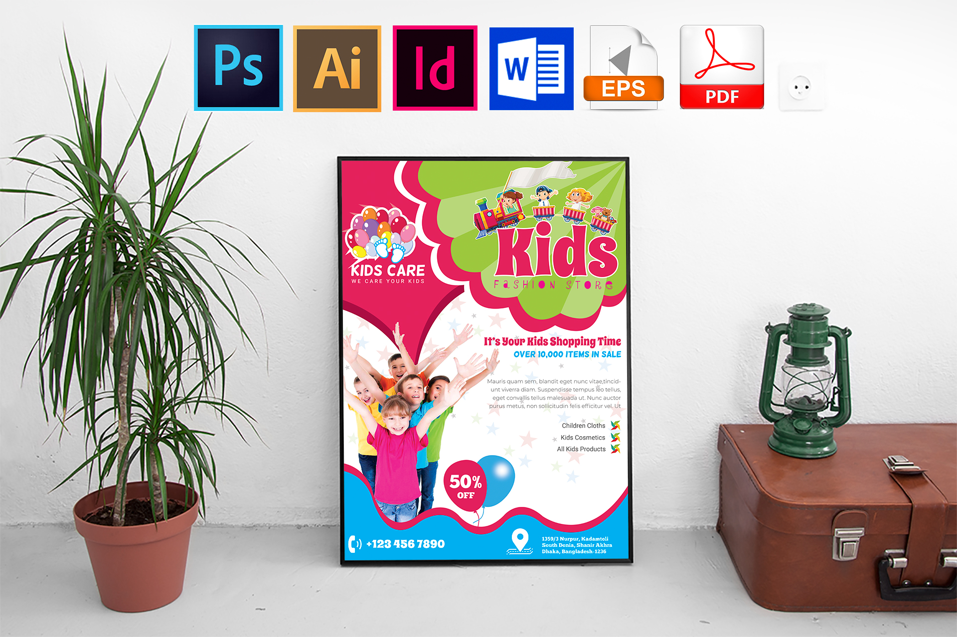 Poster | Kids Fashion Shop Vol-02 example image 1