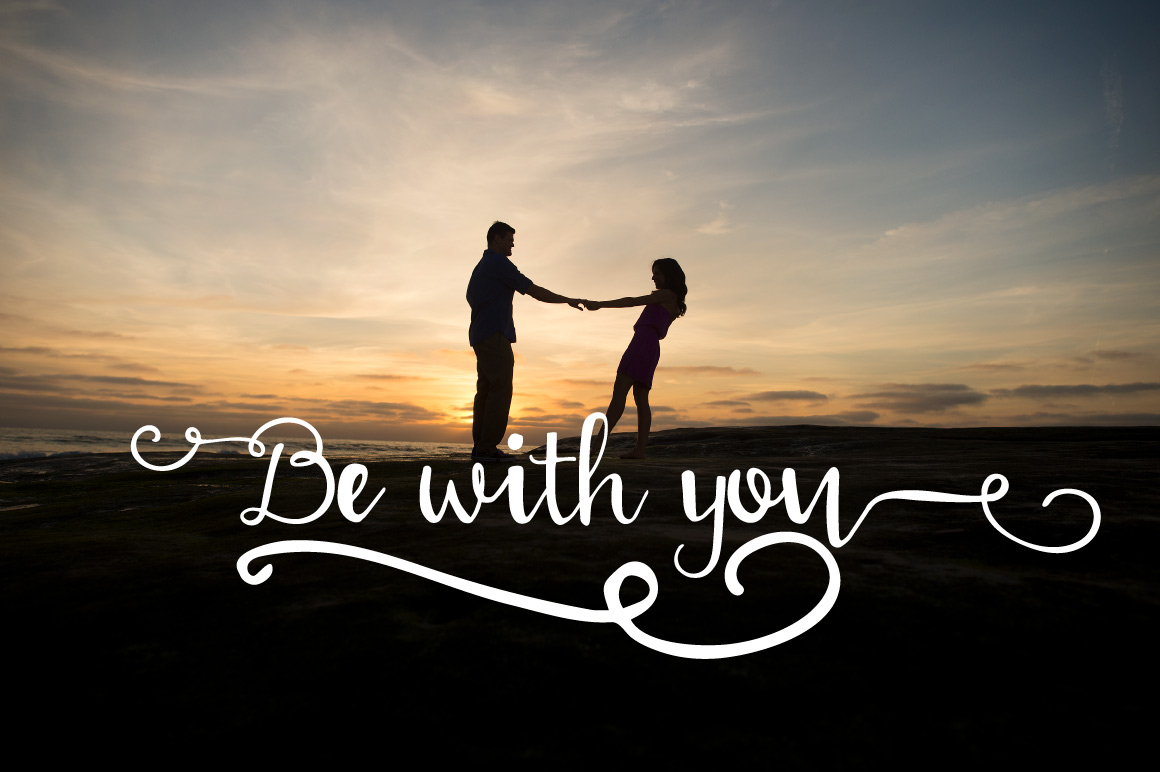 With love Handwritten font example image 5
