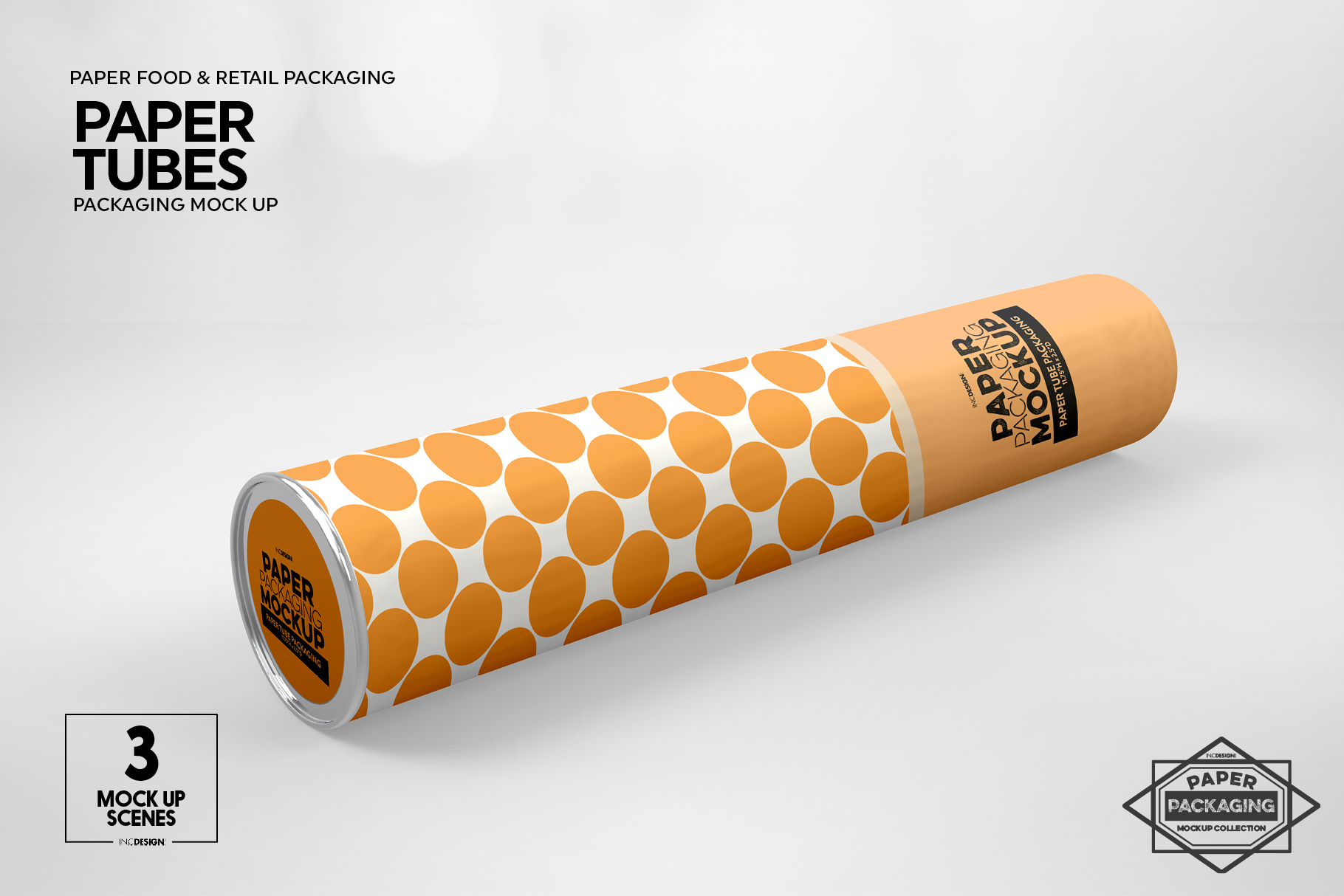 Paper Tube Packaging Mockup example image 10