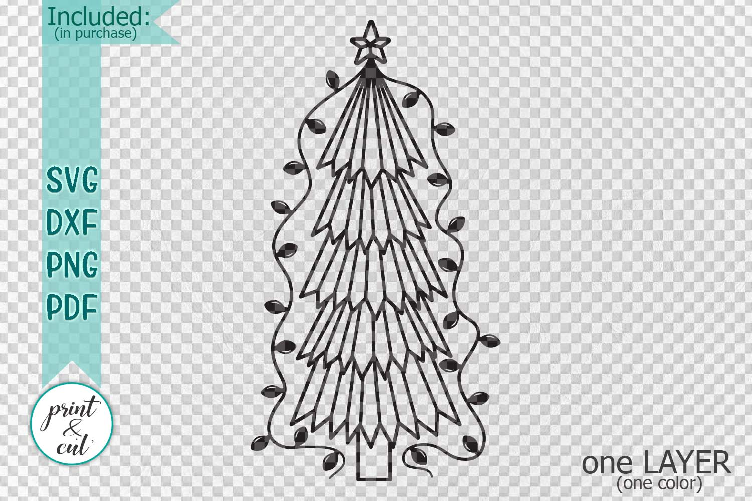 Primitive Christmas Tree.Primitive Christmas Tree Old Vintage Style Svg Dxf To Cut