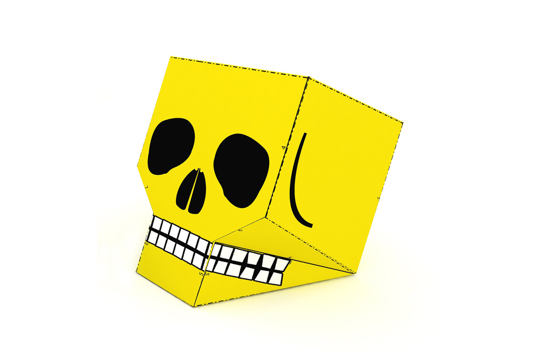 DIY Skull favor - 3d papercraft example image 3