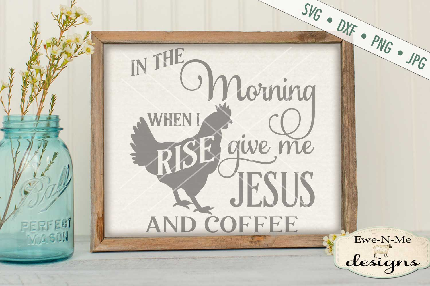 Jesus and Coffee SVG DXF Cut File example image 1